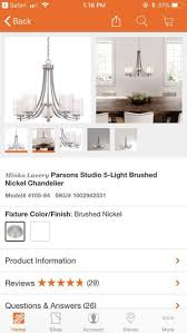 minka lavery parsons studio 5 light brushed nickel chandelier mint condition never used for in