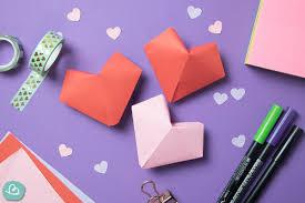 Ob ein herz zum ausschneiden das beste: Romantisches 3d Herz Basteln Origami Vorlage Wunderbunt De