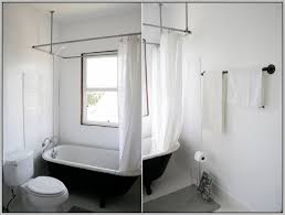 impressive hang shower curtain rod from ceiling curtains home design within hanging shower curtain rod attractive