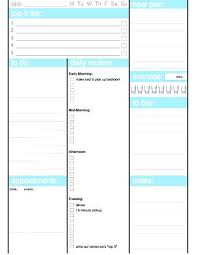 Printable Daily Task Planner Template Sheets 2017 Templates
