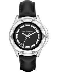 shop men s karl lagerfeld watches from 98 lyst page 2 karl lagerfeld unisex karl 7 black leather strap watch 44mm kl1037 lyst