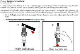 Spark Plug Setting Chart Champion 516 D16 Industrial Spark Plug Copper Plus