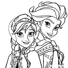 Kids N Funcom Coloring Page Frozen Anna And Elsa Elsa Anna Frozen