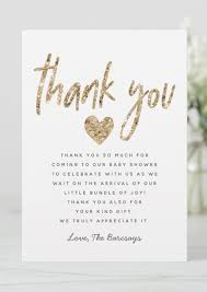 Check spelling or type a new query. Glam Gold Glitter Heart Baby Shower Thank You Card Zazzle Com Baby Shower Thank You Cards Heart Baby Shower Baby Shower Thank You