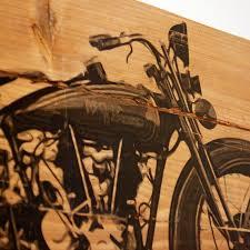 large vintage 1928 harley davidson motorcycle wall art on