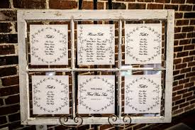 Wedding Seating Chart In A Rustic Window Frame I Used A