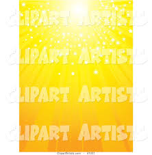 Yellow Light Shining Down Bright Yellow Sun With Sparkling Light Shining Down Clipart