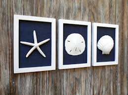 cottage chic set of photos of wall decor navy blue