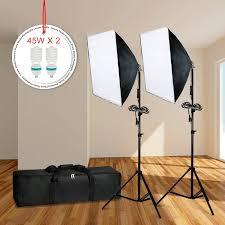 Photo Studio Lighting Kit Ebay Details About Lusana Studio Photography Softbox Continuous Photo Lighting Kit W Carrying Bag
