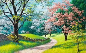 Znalezione obrazy dla zapytania grafika wiosenne drzewko