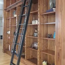 library ladders custom steel rolling ladder andrew stan in idea 11