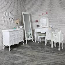 Elise White  Bedroom Set, Chest Of Drawers, Cheval Mirror, Dressing Table,
