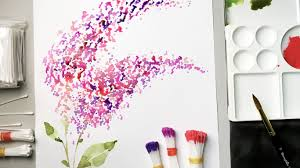Easy Flower Painting Technique For Beginners Using Cotton Swabs