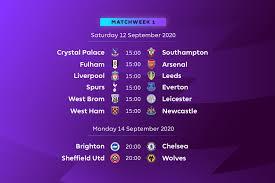 premier league fixtures 2020/2021 - slivertips