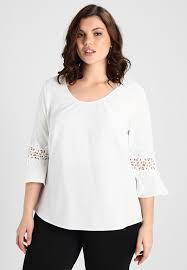 witte blouse met v hals