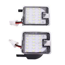 Mirror Emergency Lights Us 10 69 20 Off 2019 Uiversal 2 X High Bright Error Free Led Smd Side Mirror Puddle Lights Car Welcome Light For Ford Focus 2015 Kuga Mondeo In