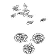 20pcs moon sun cute pendant flower lobster clasp finding jewelry gifts