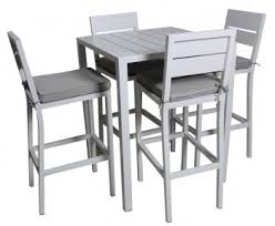outdoor bar table and chairs melbourne. adler 5 piece outdoor aluminium white bar table set outdoors and chairs melbourne