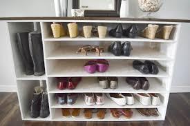 how to make a diy shoe organizer and rack for the closet