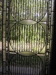 abstract beveled glass door panel