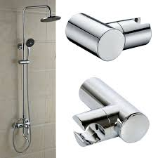 details about new shower head holder replacement bracket bathroom wall mounted hose chrome