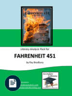 fahrenheit teachers guide ray bradbury utopia fahrenheit 451 literary analysis
