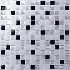 mosaic tiles vinyl black white mix