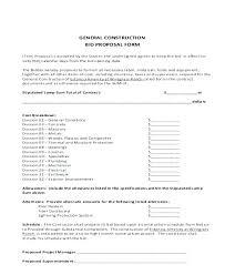 Contract Bid Forms Free Invitation To Template Unique Print ...
