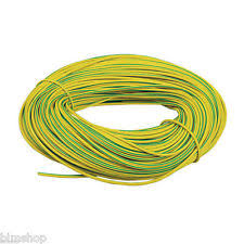 wire sleeving green yellow pvc earth sleeving 3mm wire cable flexible various lengths