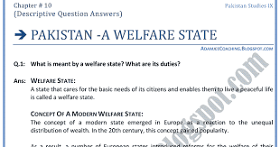 adamjee coaching a welfare state descriptive adamjee coaching a welfare state descriptive question answers studies ix