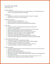 Birth Plan For C Section Template Birthing Plan Template Cesarean Birth C Section Example