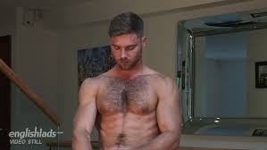 Hairy chested uncut men