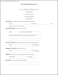 Resume Blank Template Beauteous How To Make A Resume For Free Blank Templates Microsoft Word