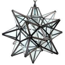 full image for moravian star hanging light fixture moravian star pendant light clear glass bronze frame