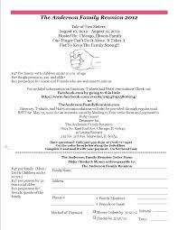Registration Form Templates For Word Best Images About Family Reunion On Reunions Event Registration Form