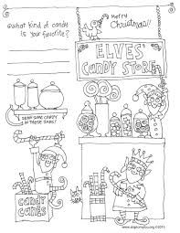 A Cute Christmas Coloring Sheet Is