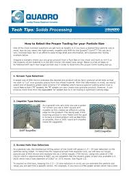 How To Select The Proper Tooling For Your Particle Size