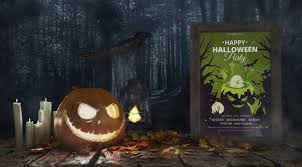 Scary Pumpkin With Horror Movie Poster Psd File Free Download