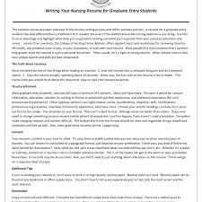 Student Nurse Resume Graduate Nurse Resume Samples New Practitioner Sample Grad Nursing 82