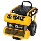air compressors dewalt 1 1 hp continuous 4 gallon electric wheeled dolly style air compressor
