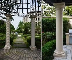garden columns. Brilliant Garden Beige Marble Garden Sculptured Roman Columns Outdoor Architectural  Exterior Landscaping Stones Column Tops U0026 Bases On Columns C