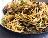 angel hair with spicy eggplant sauce