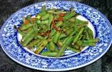 basil lemon green beans