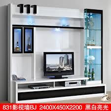 New Modern Black And White Minimalist Living Room TV Cabinet LCD Lcd Tv Cabinet Living Room