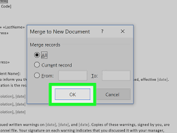 Word Mail Merge How To Mail Merge In Microsoft Word With Pictures Wikihow