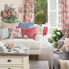Ideal Home Living Room Summer Living Room With Floral Curtains And Cushions Ideal Home