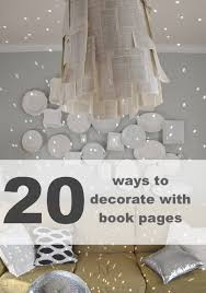 image decorate. How To Decorate With Book Pages #diy #books Image T