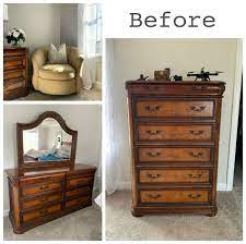painted bedroom furniture and master
