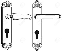 door handle symbol stock vector 20543981