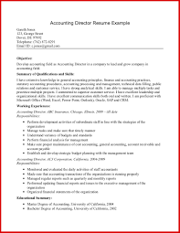 Example Objective For Resume New Accountant Objective Resume Examples mailing format 86